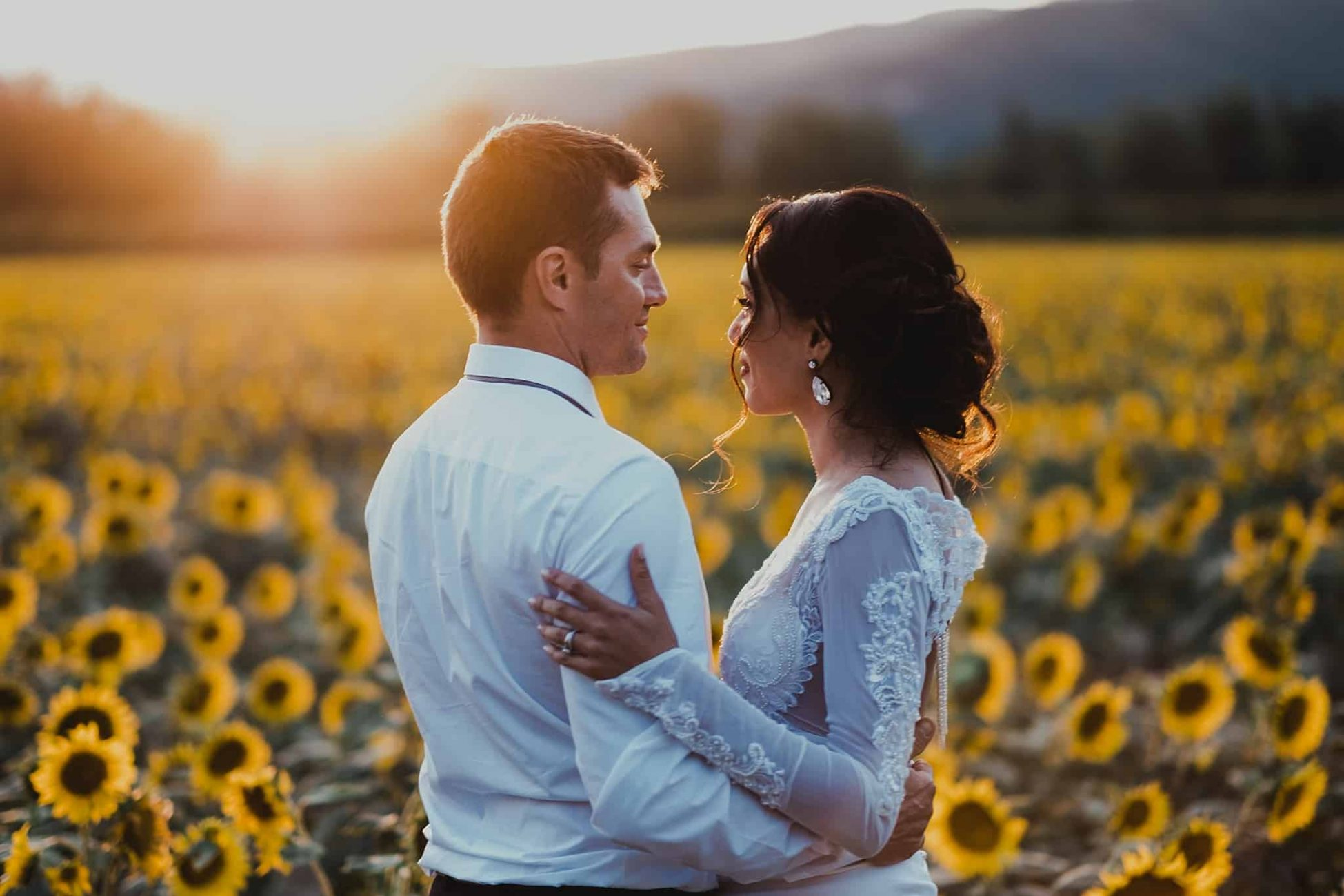 France Destination Wedding Sunflower Field