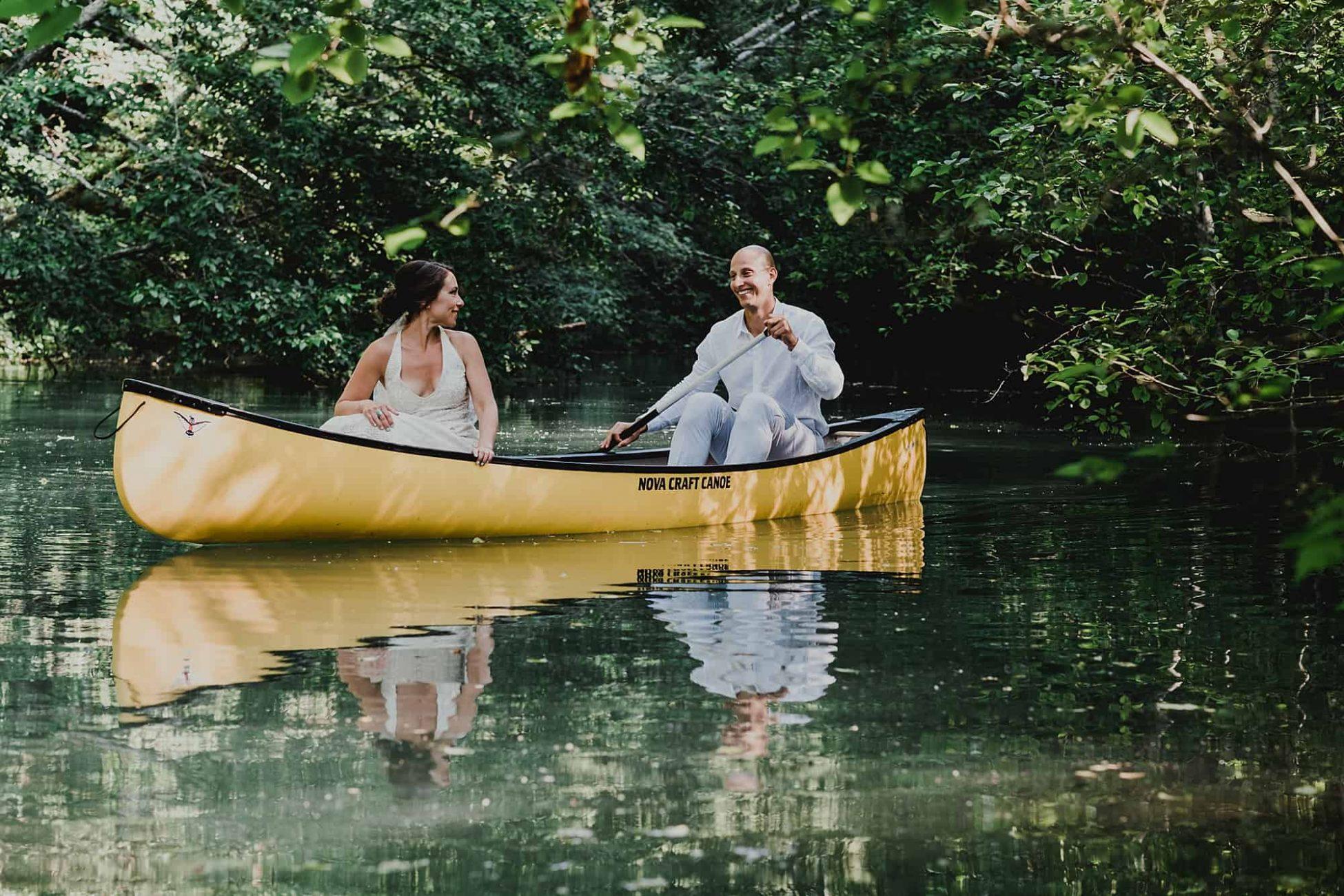 wedding canoe ride cheakamus center