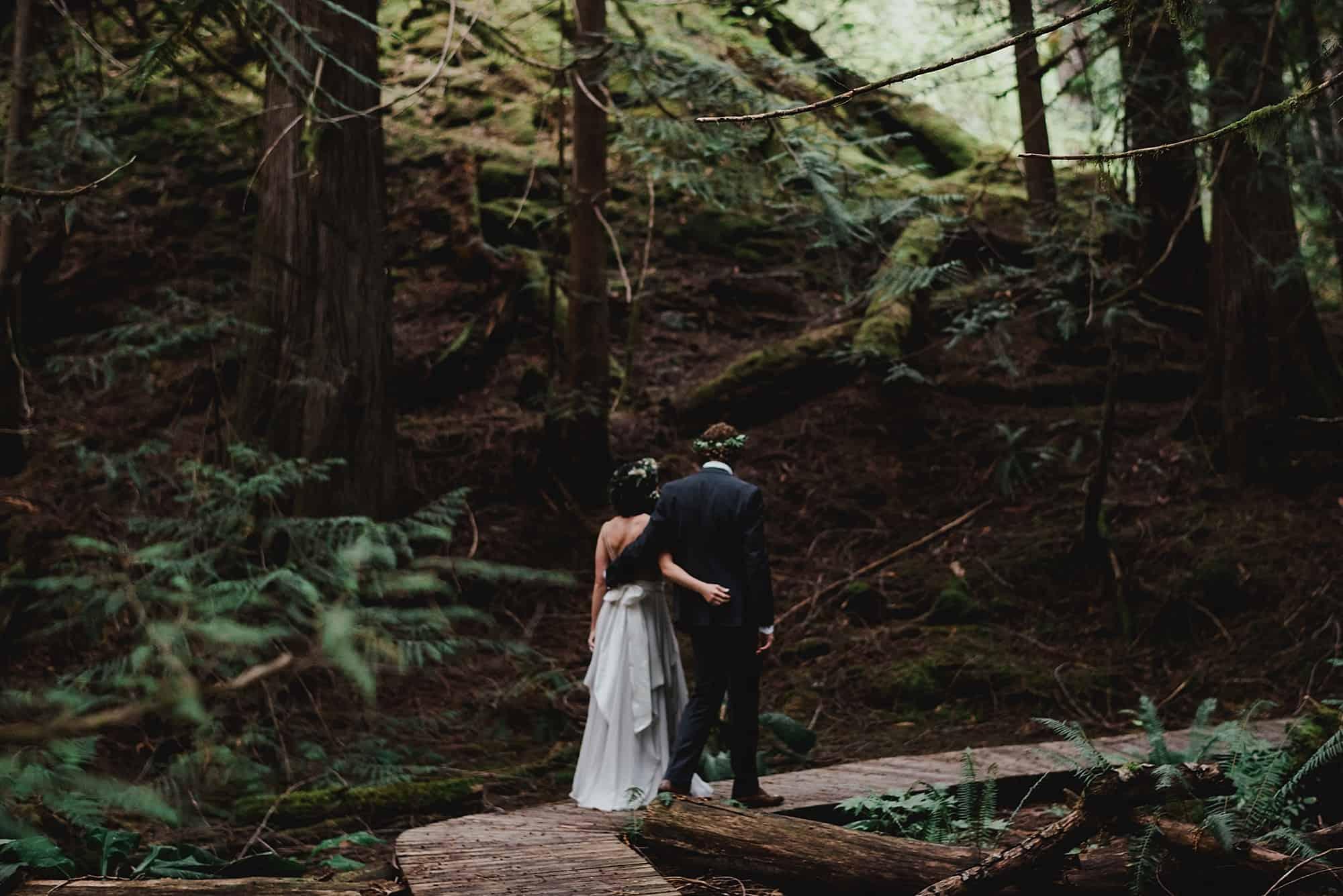 rain forest walk at brew creek centre wedding venue