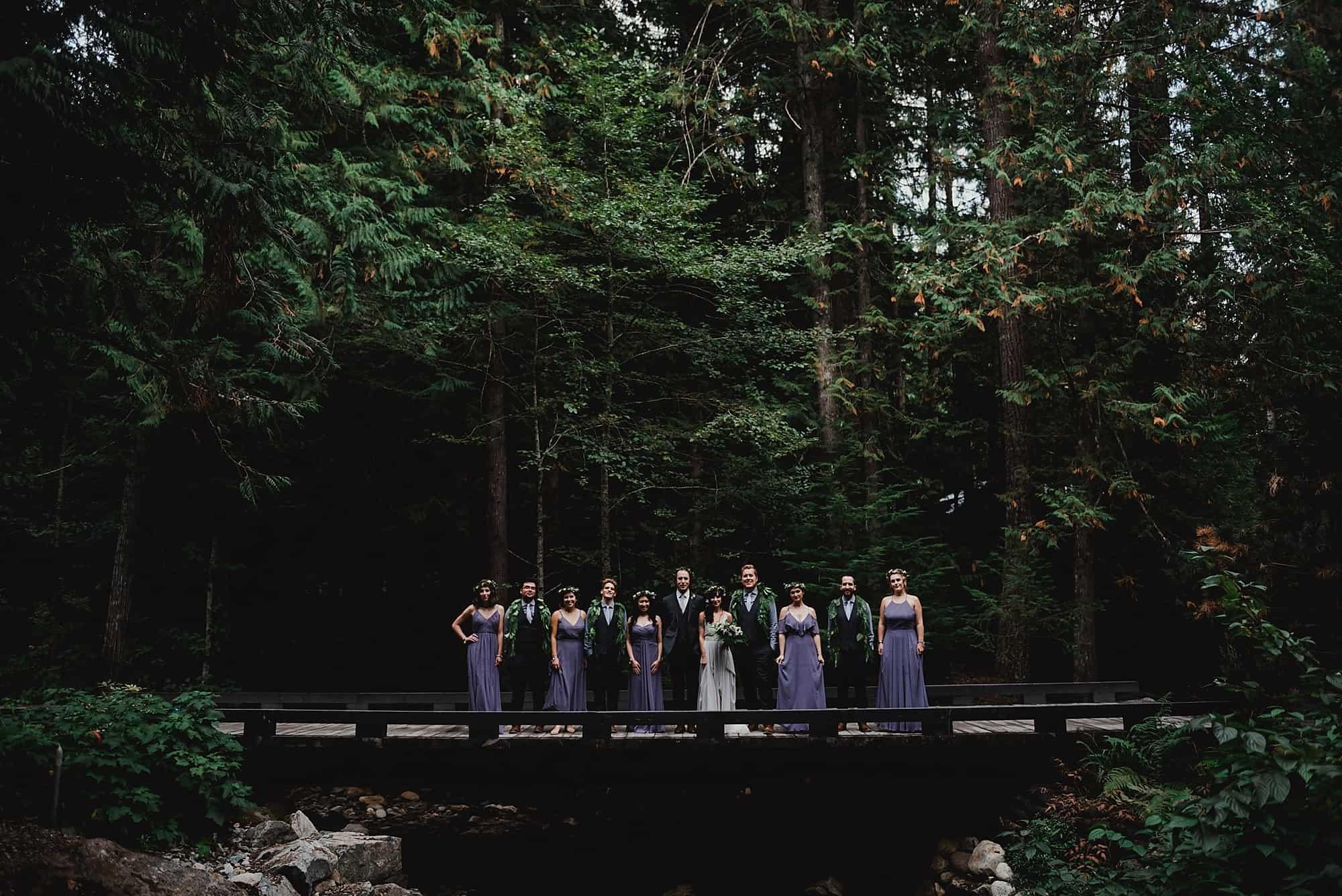 bridge crossing to brew creek centre wedding