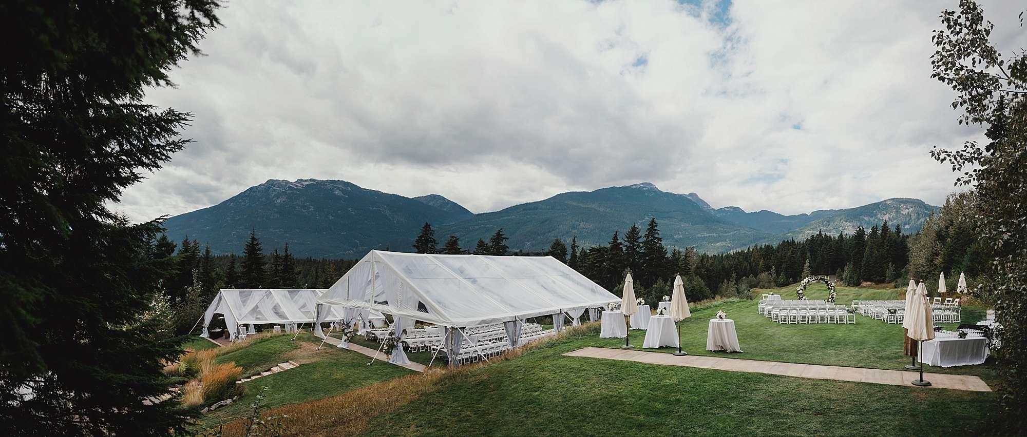 mountain view lawn fairmont chateau whistler wedding venue