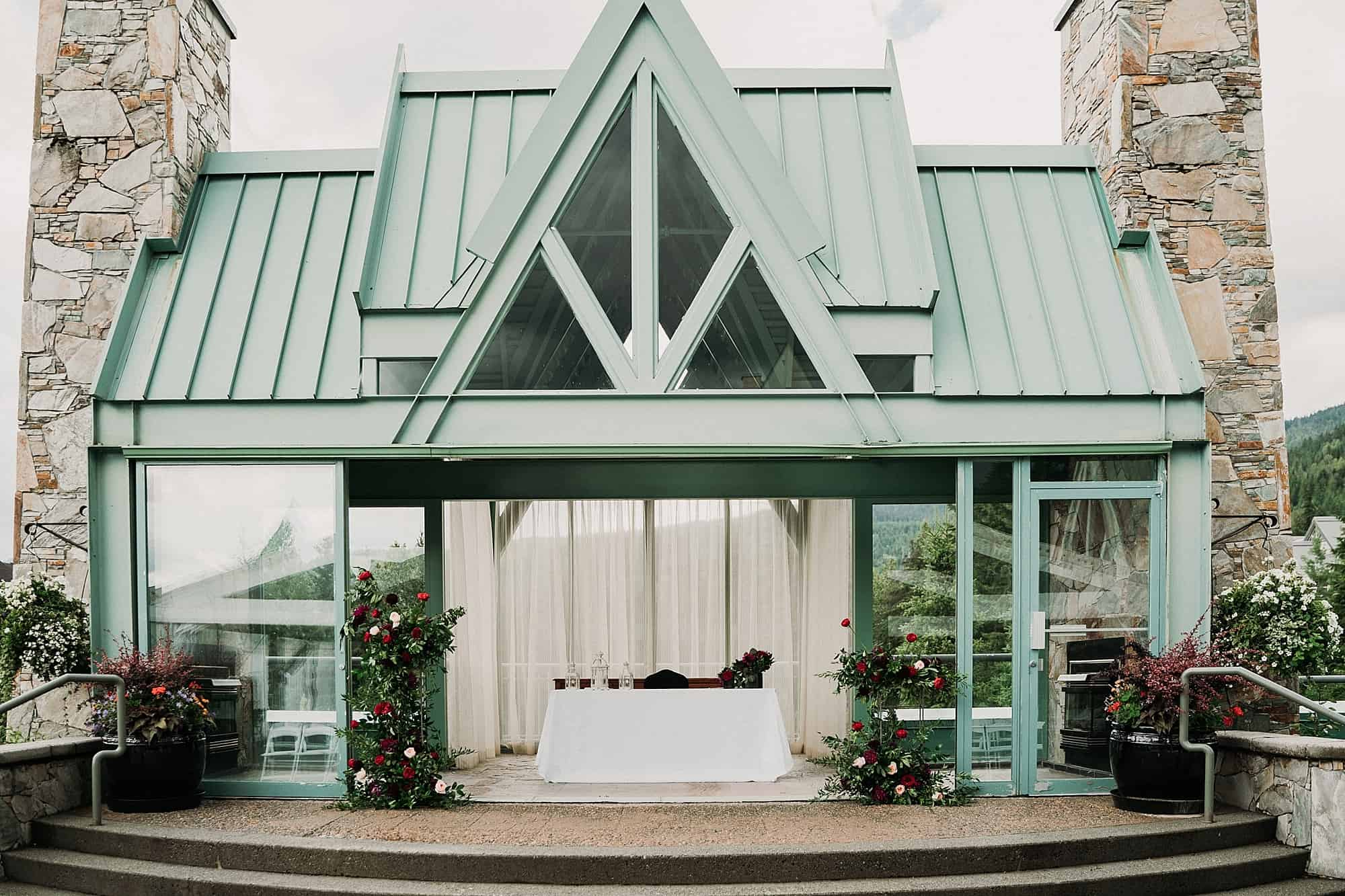 rooftop chapel at fairmont whistler