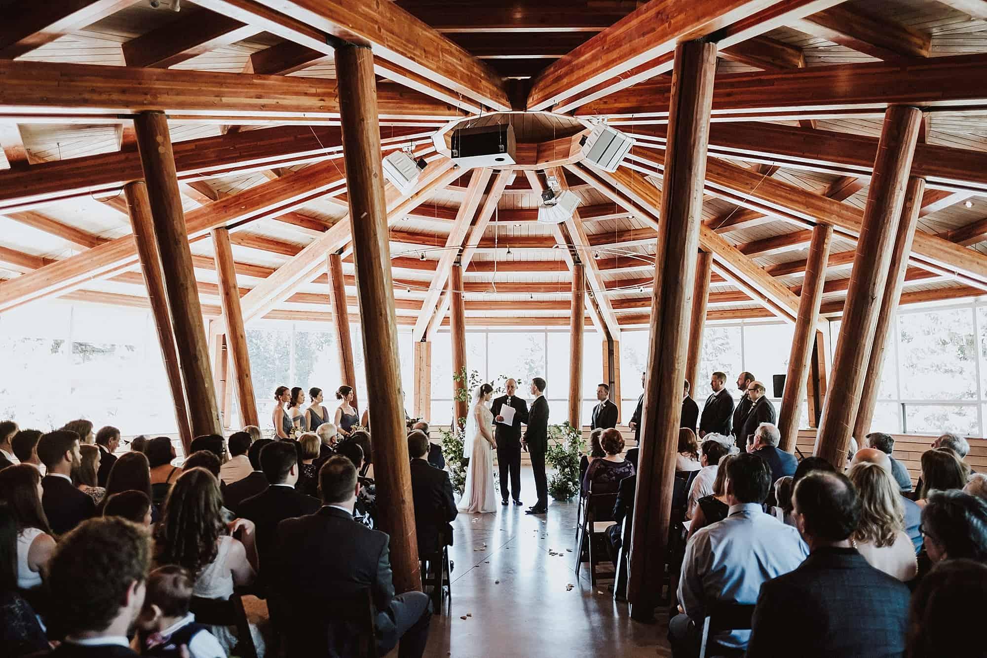 wedding ceremony at SLCC