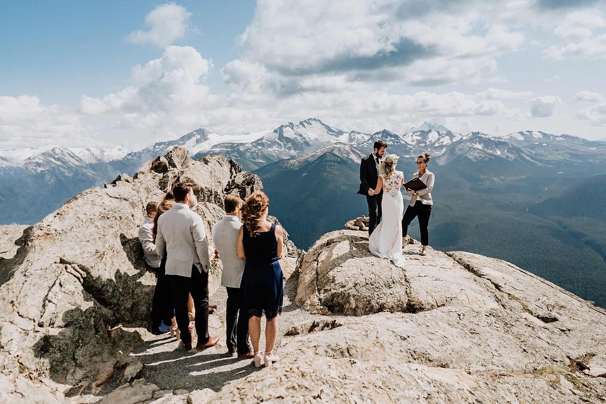 mountain top wedding ceremony whistler blackcomb