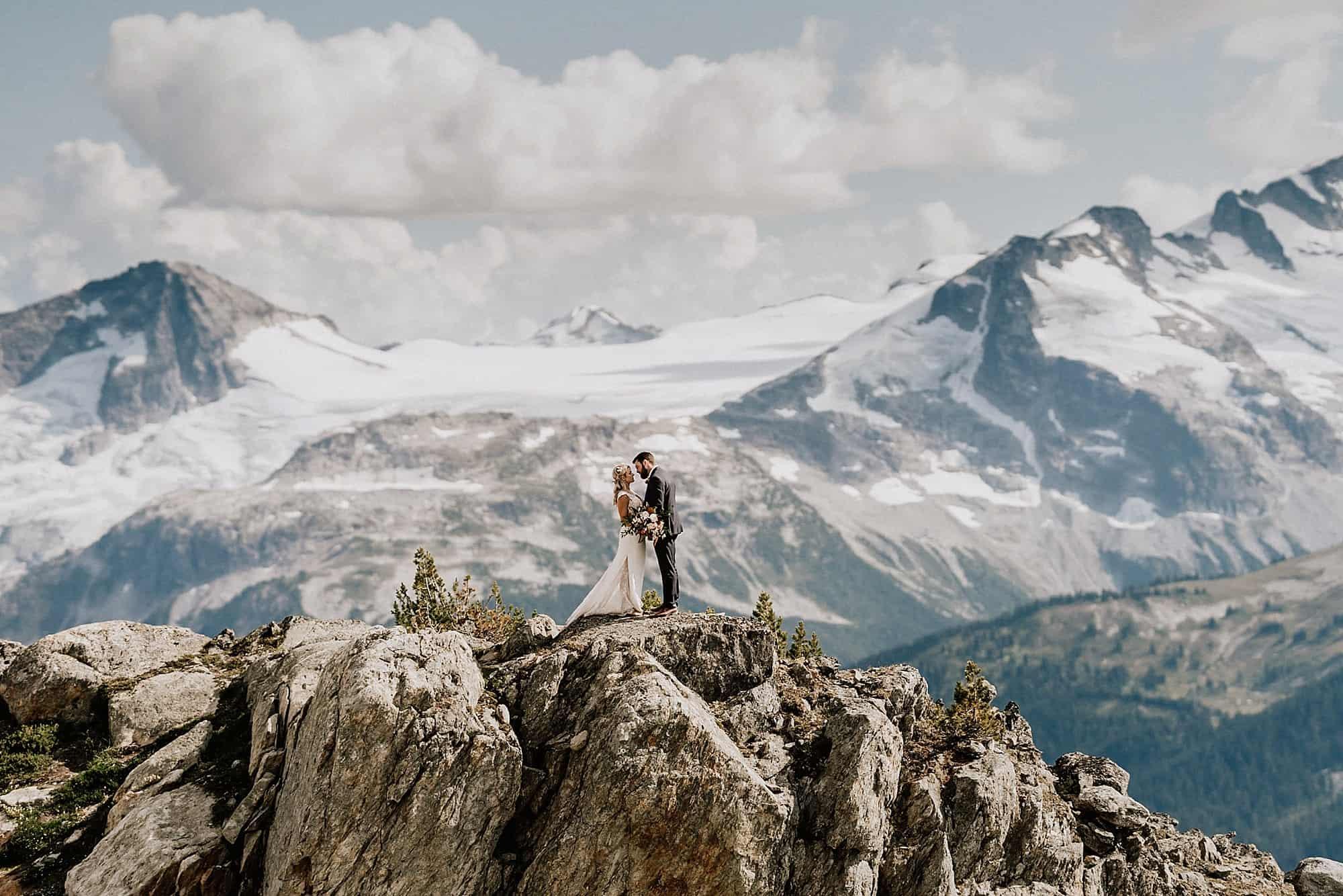 wedding photos in the alpine of whistler blackcomb
