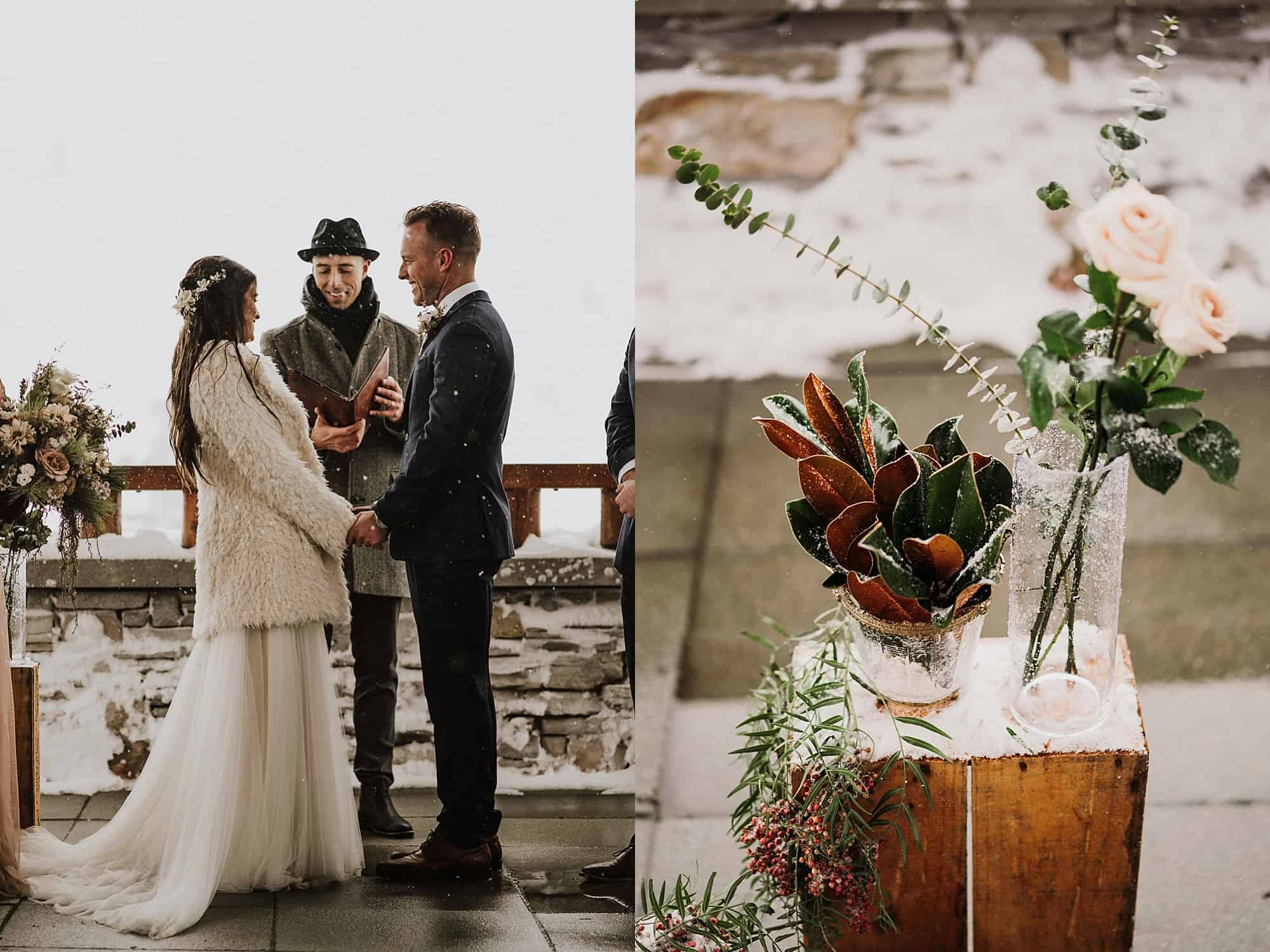 winter wedding steeps patio