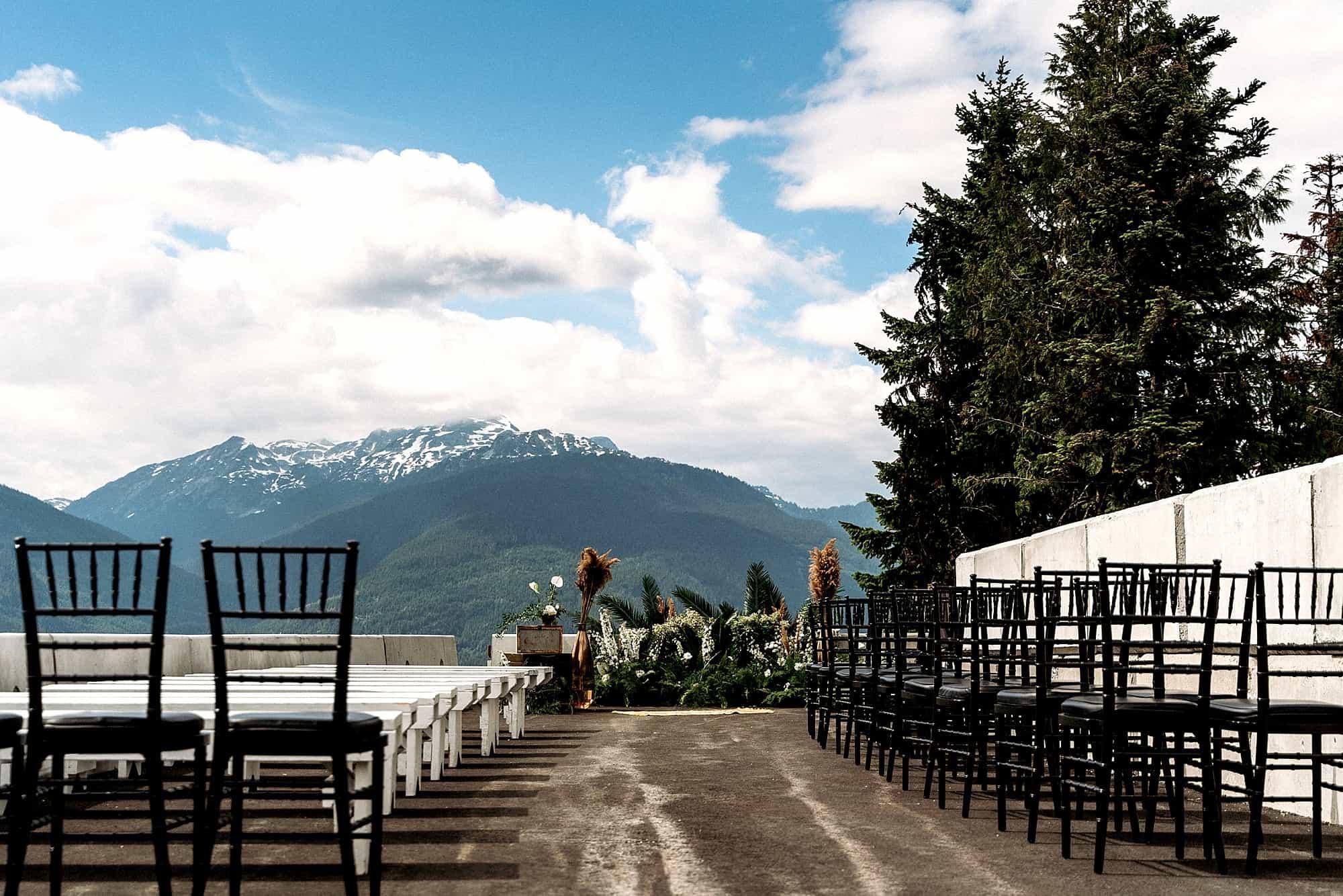 ceremony site for sliding centre wedding