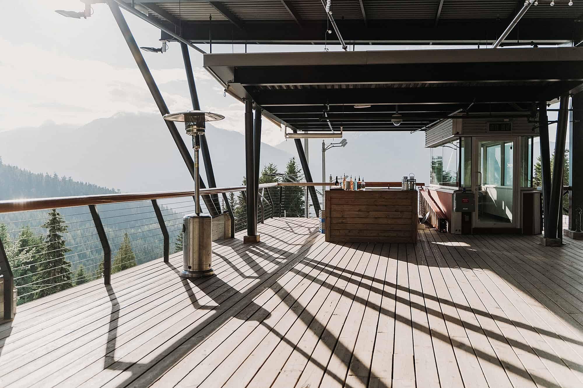 views from top start house whistler sliding centre