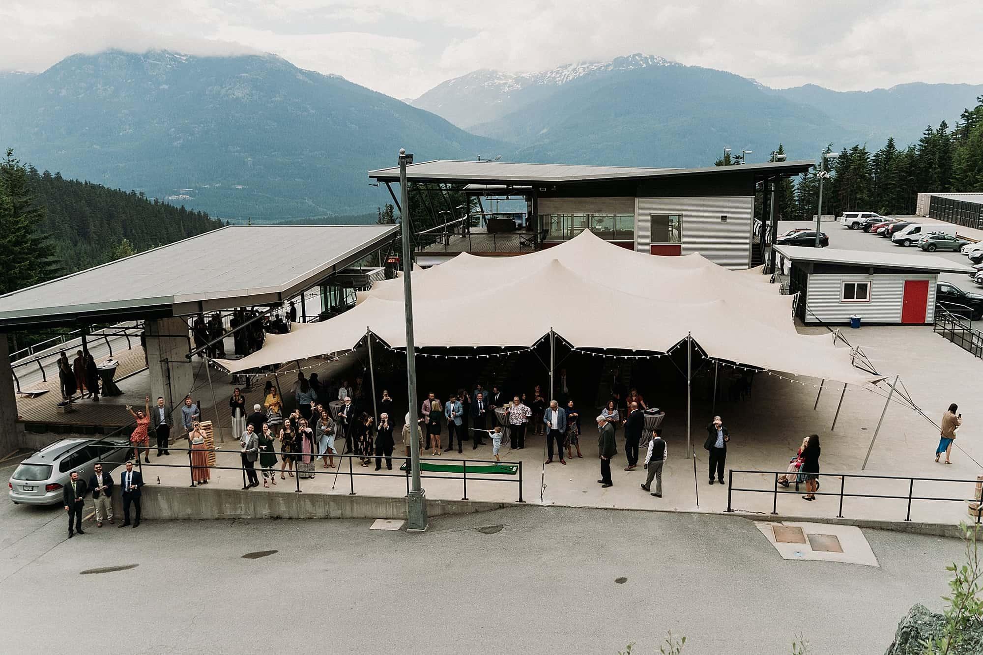 tent on upper sports deck whistler sliding centre