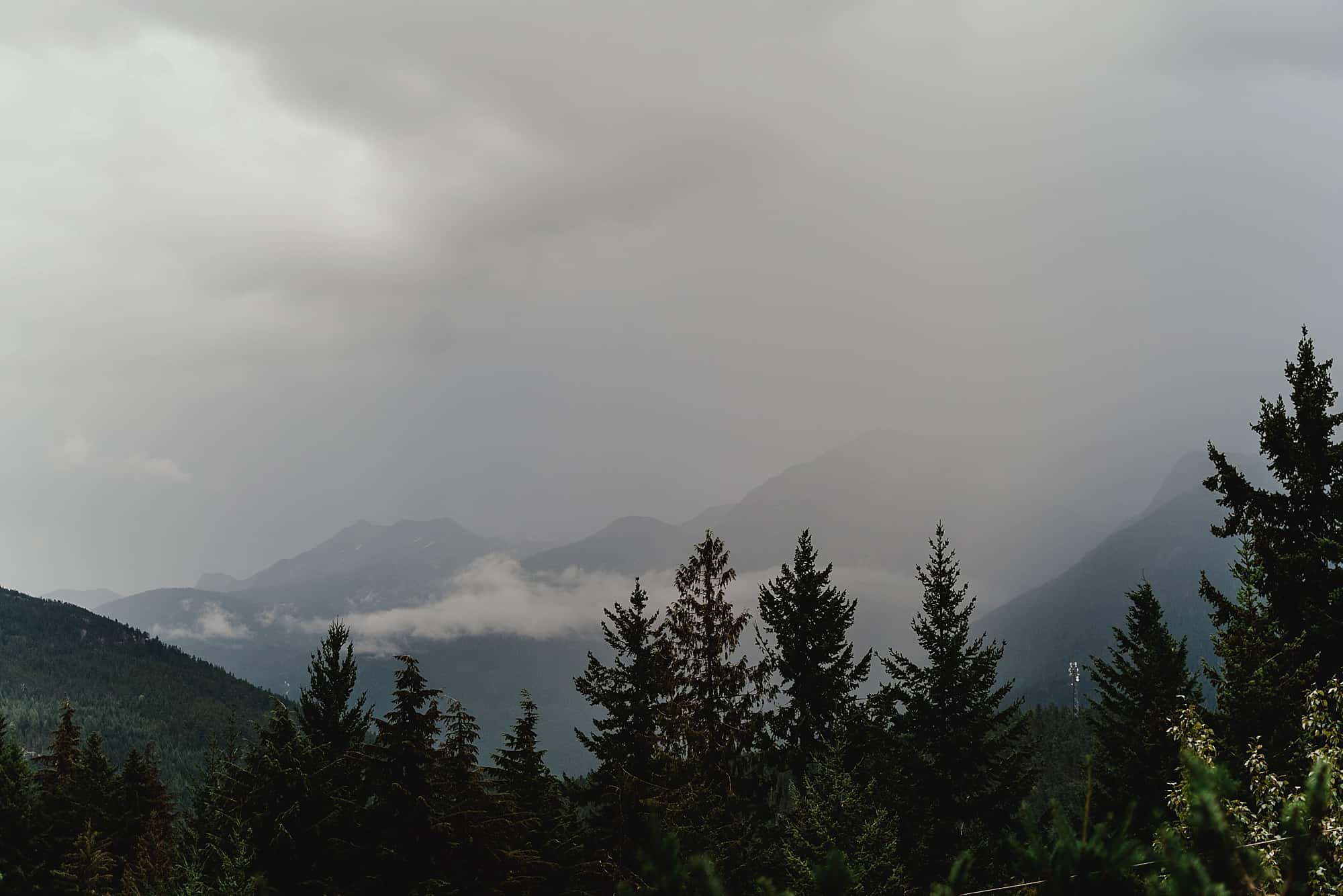 views of mountains from Whistler wedding