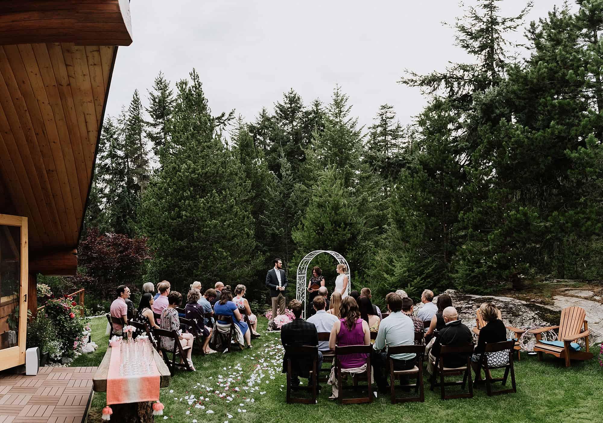 backyard ceremony in whistler
